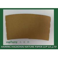 Buy cheap Personalized Paper Cup Sleeves Brown Color Kraft Paper Environmental Protection product