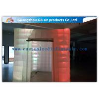 China Cool Portable Cube Led Photo Booth Inflatable Decorative Lighting UV Resistant on sale