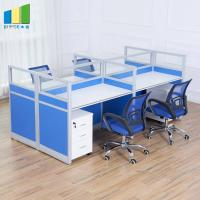 Buy cheap Commercial Office Furniture Partitions / MFC Panel 4 Seater Conference Table product