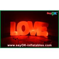 Buy cheap Valentine Inflatable Led Light Love Indoor Wedding Inflatable Decorations product
