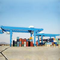 Buy cheap Rtg Container Lifting Crane Mobile Double Beam With Voltage Lower Protection product