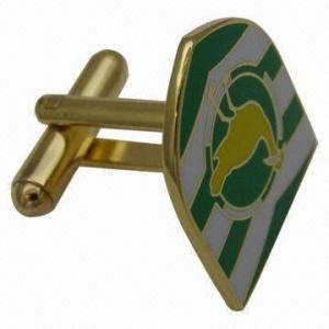 Buy cheap 透明な模造堅いエナメルから成っている紋章のロゴのカフスボタン product