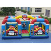 Buy cheap Outdoor Police Station Design Inflatable Fun City Waterproof For Amusement Park Double jumping area inflatable jumping product