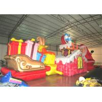Buy cheap Waterproof PVC Inflatable Christmas Decorations Strong Fabric Inflatable Santa Claus for decoration product