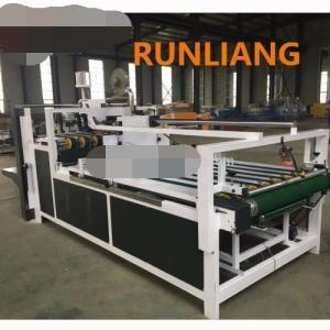 Buy cheap Semi Automatic Corrugated Box Gluing Machine , Carton Folding And Gluing Machine product