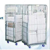 Buy cheap Logistic Roll Wire Mesh Cage Storage Collapsible Pallet Bin Used Steel Containers for Sale product