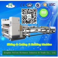 Buy cheap Automatic Corrugated  Single Face Paper Nc Slitter & Nc Cutter & Stacker product