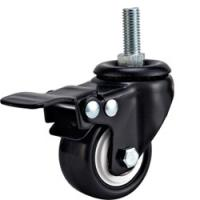 "Quality light duty 2 inch white PP caster with brake, 2.5"" swivel PP caster brake,3 inch for sale"