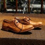 Buy cheap スエードの上部の純粋な革形式的な靴は、100%メンズ ハンドメイドのレザー・ブーツを黒くします product