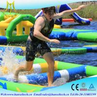 Buy cheap Hansel popular happy hop inflatable water slide in the lake or sea product