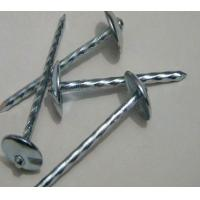 Buy cheap Umbrella Head Metal Working Tools , Q195 Galvanized Roofing Nails Twisted Shank from wholesalers