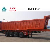 Buy cheap 70 Tons Square Shape 4 Axle Tipper Trailer For Transport Mine, Sand, Gravel from wholesalers