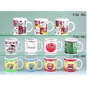 Canecas de café da porcelana imprimidas (7102C)