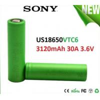 China SONY VTC6 18650 3000mAh 3.6V Electronic Cigarette battery, discharge 30A High Drain Recharge battery wholesale