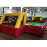 Buy cheap Indoor small Inflatable Football Pitch red Inflatable football field for Kindergarten Baby product