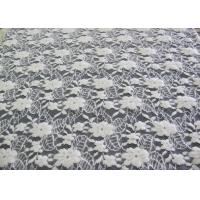 Buy cheap Washable Brushed Floral Lace Stretch Fabric / Nylon Cotton Spandex Fabric CY-LQ0043 product