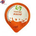 Buy cheap Food Grade Aluminium foil sealing lids for yogurt cup, yogurt cup sealing lids product