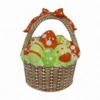 China Easter Basket, Made of Ceramic, with Hand Painted and Glazed Finishing on sale