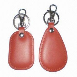 Buy cheap Keychains en cuir avec la longueur de crochet en métal de 4cm, de diverses formes sont disponible product