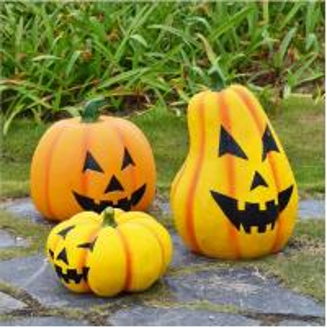 China Halloween decoration fiberglass pumpkin lamp sculpture on sale