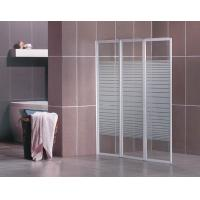 China Bath Screen with 5mm thickness Transparent Glass with Strips on sale