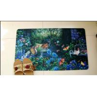 Buy cheap Durable Polyester Rubber Floor Carpet Heat Transfer Printing For Home Decoration product