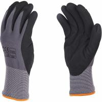 China 15G Nylon Spandex Sandy Nitrile Coated Work Gloves For Excellent Grip Customized Color on sale