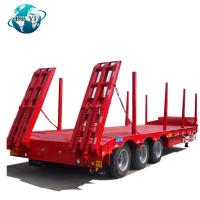 Buy cheap Heavy Duty 3 Axles Lowbed lowboy Semi Trailer container trailer for sale product