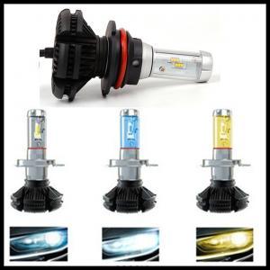 China X3 Fanless 6000LM 50W Philips ZES H4 9004 9007 H13 hi/lo beam LED headlight Car Auto LED DRL fog head light bulb on sale
