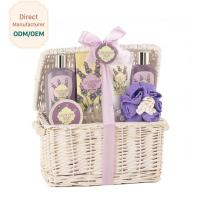 China Women Relaxing Bath Gift Sets , Luxury Bath Gift Baskets Coconut Lime Scent on sale