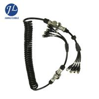 Buy cheap 7 Pin Male Connect Four Female Aviation Cable For Split Screen Reversing Camera System product