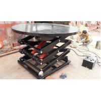 Ce certification rotating hydraulic scissor lift table for Large motorized rotating platform