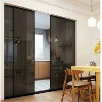 China 45x16 aluminum sliding doors glass door interior doors long life span good heat and sound insulation on sale