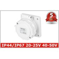 Buy cheap IP67 Low-voltage Industrial Power panel mounted Socket 2P, 2P+E , 20V-25V,40V-50V, 16A,32A 5 Years Warranty product