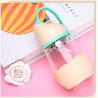 Transparent Glass Baby Bottles With Silicone Sleeve Handle Multi Color