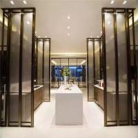 Buy cheap stainless steel Frame Fixed Partition For Office, bronze Color Glass Partition Screen product