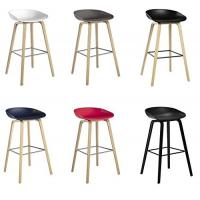 Buy cheap Beech Wooden Hay Bar Stool , Optional Colors Kitchen Counter Stools 75cm Height product