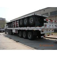 Buy cheap 40ft Three Alxes Heavy Duty Semi Trailers Flatbed Truck With 14mm Upper Thickness product