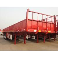 Buy cheap New High Quality Cargo Side Wall Semi Trailer Flat Bed Semi Trailer with Side Wall Side Panel Cargo Trailer product