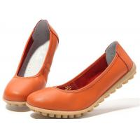 Buy cheap New low-heeled leather women's shoes flat gum-rubber outsole women's shoes from wholesalers