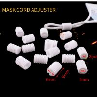 Buy cheap White Elastic Fastening Removable Plastic Cord Lock Stopper For Face Mask Bulk Order product