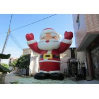 Buy cheap Attractive Outdoor Inflatable Christmas Decorations Blow Up Santa Claus 8mH product
