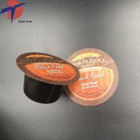 Buy cheap Printed embossed aluminium foil lids for plastic coffee K cup/ plastic containers product