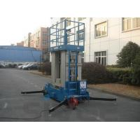 China Four Mast Blue Hydraulic Lift Ladder Electric Motor With 12 m Platform Height on sale
