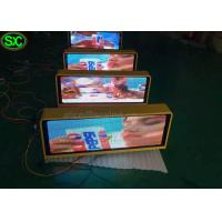 Buy cheap P10 1R1G1B Single Color Red taxi led sign 3G Control Super Clear Vision product