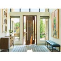 Buy cheap Modern Residential Solid Wood Interior Doors Waterproof Lobby Entrance Pivot Type product