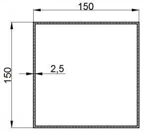 Buy cheap 150mm Aluminum Square Tubing for Industrial Usage 2.5mm Wall Thickness 6063 T5 product