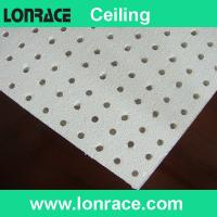 Gypsum perforated ceiling board