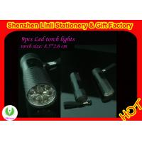 China competitive price aluminium alloy oem logo 9pcs High power led flashlight torch  on sale