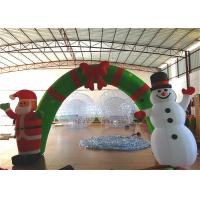 Buy cheap Holiday Blow Up Christmas Decorations , Inflatable Christmas Arch Ornaments 4.6 X 3.6m product